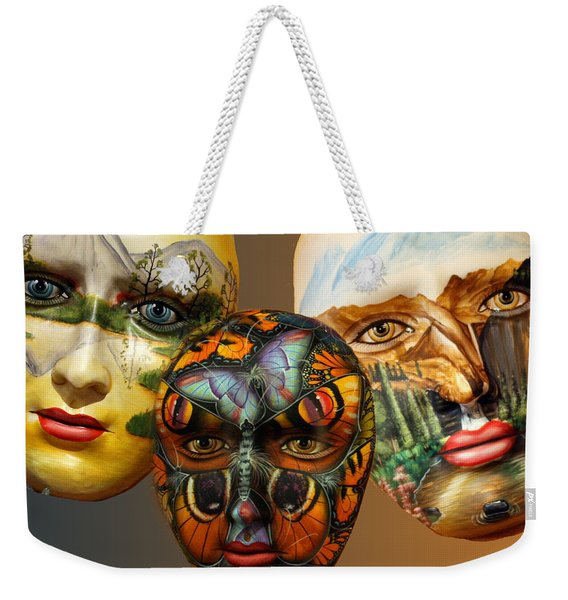 Masks On The Wall Weekender Tote Bag