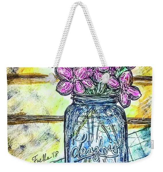 Mason Jar Bouquet Weekender Tote Bag
