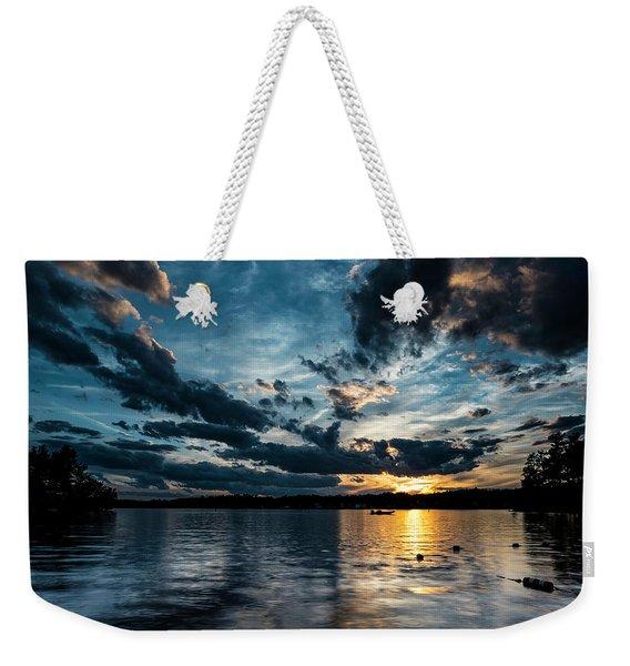 Masscupic Lake Sunset Weekender Tote Bag