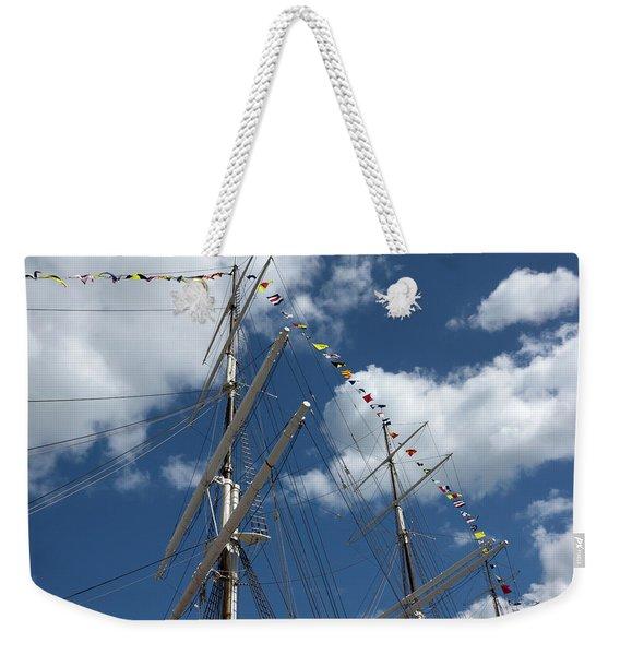 Masts Against The Sky Weekender Tote Bag