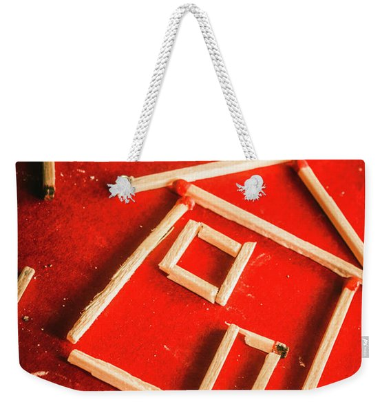 Matchstick Houses Weekender Tote Bag