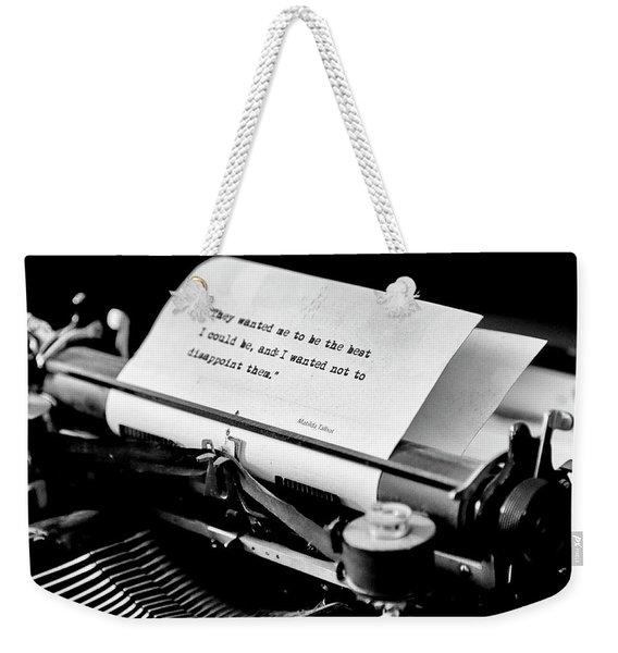 Matilda Talbot Typwiriter Weekender Tote Bag