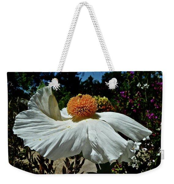Matilija Poppy Two Weekender Tote Bag