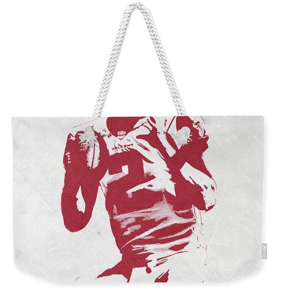 Matt Ryan Atlanta Falcons Pixel Art 2 Weekender Tote Bag