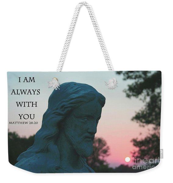 Matthew 28/20 - Jesus Statue Weekender Tote Bag