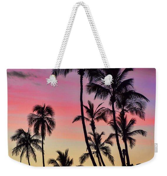 Maui Palm Tree Silhouettes Weekender Tote Bag