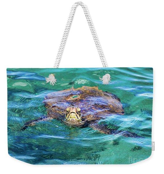 Maui Sea Turtle Weekender Tote Bag