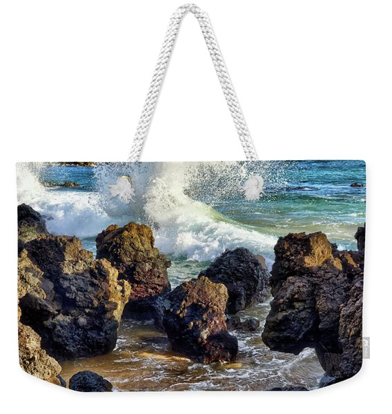 Maui Wave Crash Weekender Tote Bag