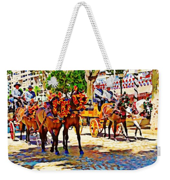 May Day Fair In Sevilla, Spain Weekender Tote Bag