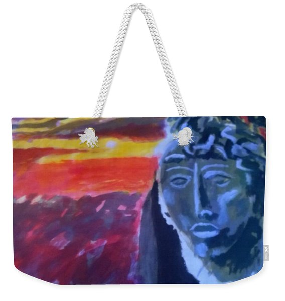 Maya Sunset Weekender Tote Bag