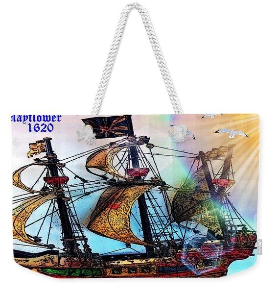 Mayflower 1620 Weekender Tote Bag