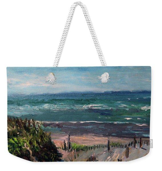 Mayflower Beach Weekender Tote Bag