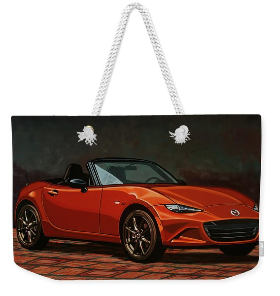Mazda Mx-5 Miata 2015 Painting Weekender Tote Bag