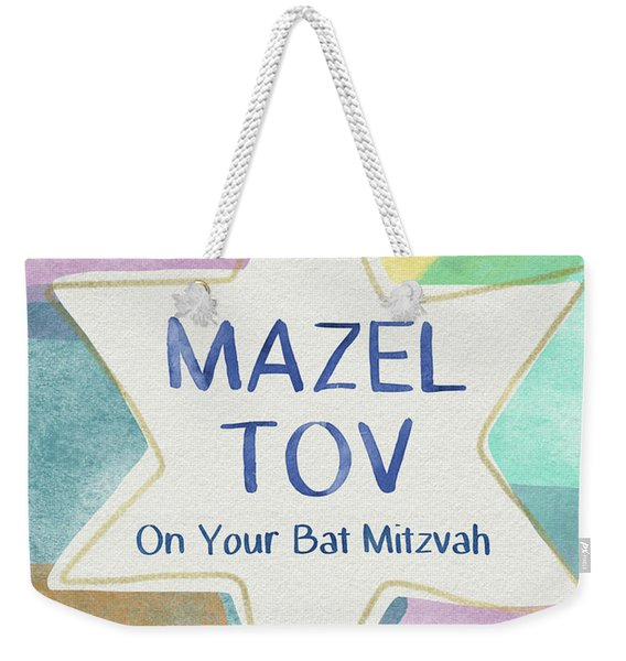 Mazel Tov On Your Bat Mitzvah- Art By Linda Woods Weekender Tote Bag