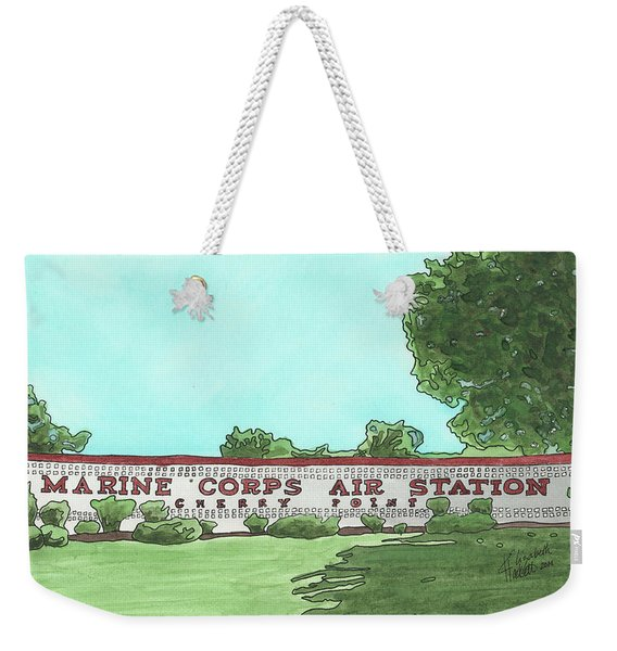 Mcas Cherry Point Welcome Weekender Tote Bag