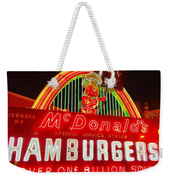 Mcdonald's Historical Neon Weekender Tote Bag