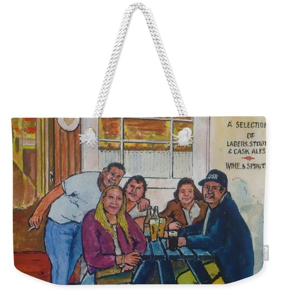 Amber At Mcglynn's Pub In London, England Weekender Tote Bag