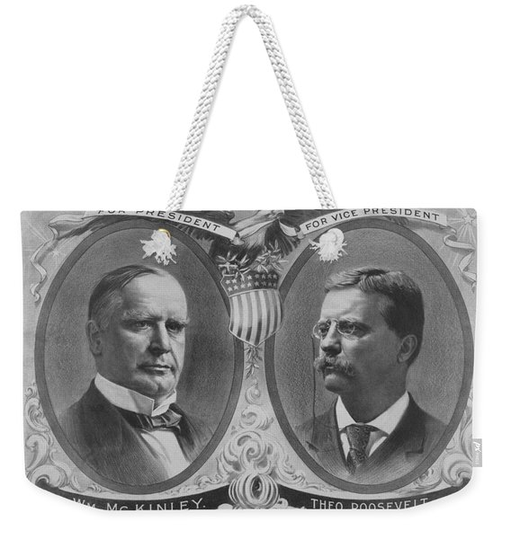 Mckinley And Roosevelt Election Poster Weekender Tote Bag