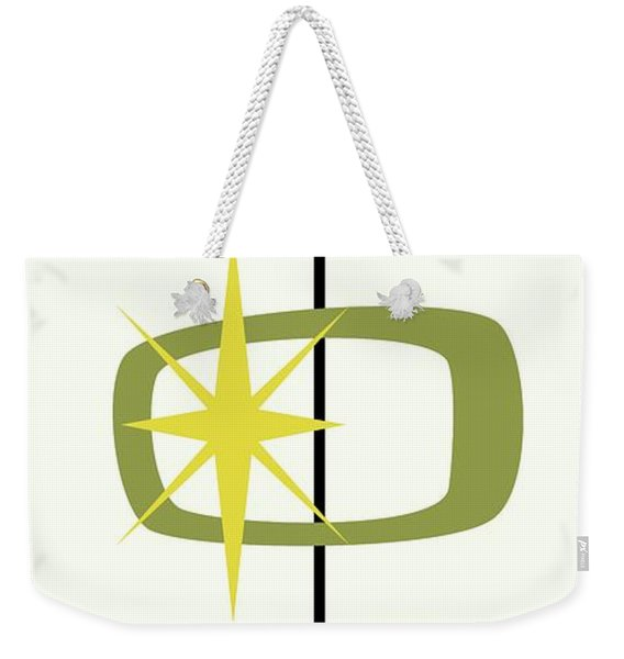 Weekender Tote Bag featuring the digital art Mcm Shapes 1 by Donna Mibus