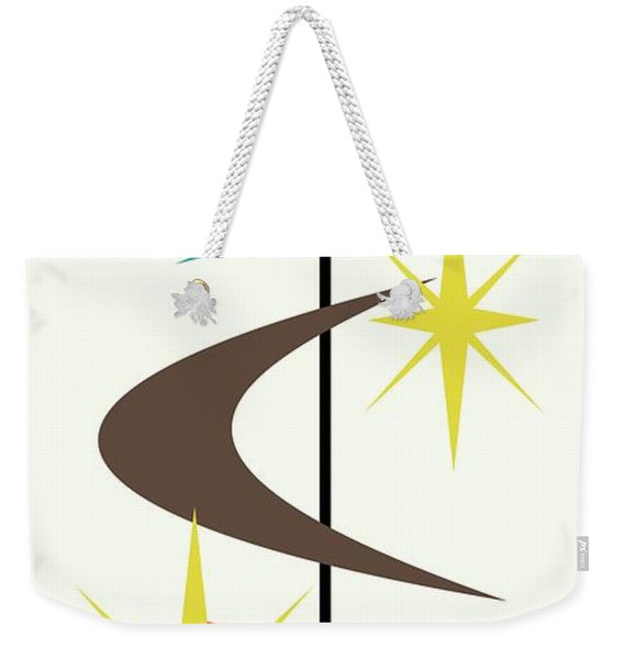 Weekender Tote Bag featuring the digital art Mcm Shapes 2 by Donna Mibus