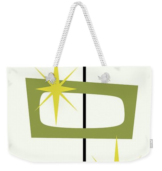 Weekender Tote Bag featuring the digital art Mcm Shapes 3 by Donna Mibus