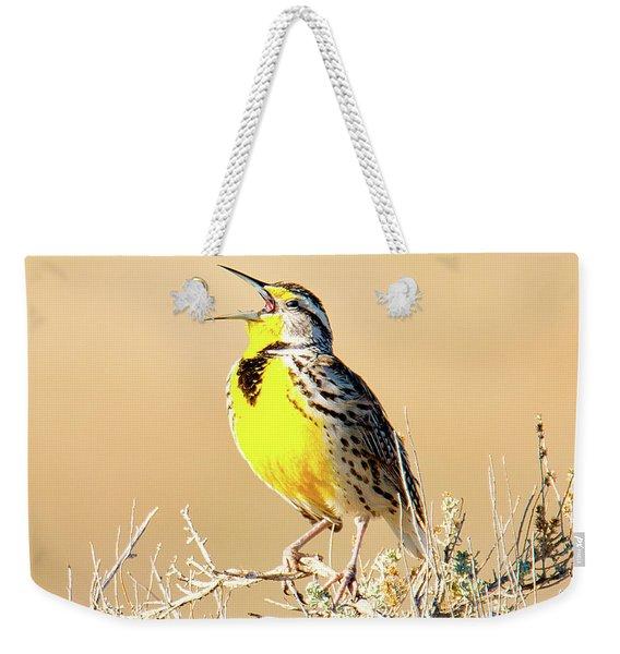 Meadow Lark Weekender Tote Bag