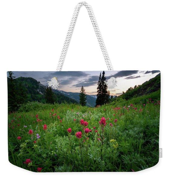 Meadow Of Wildflowers In The Wasatch Weekender Tote Bag