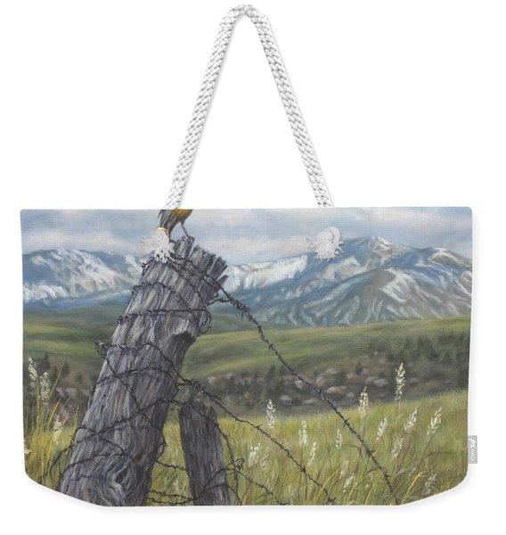 Meadowlark Serenade Weekender Tote Bag
