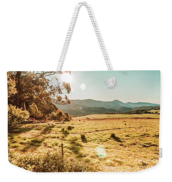 Meadows And Mountains Weekender Tote Bag