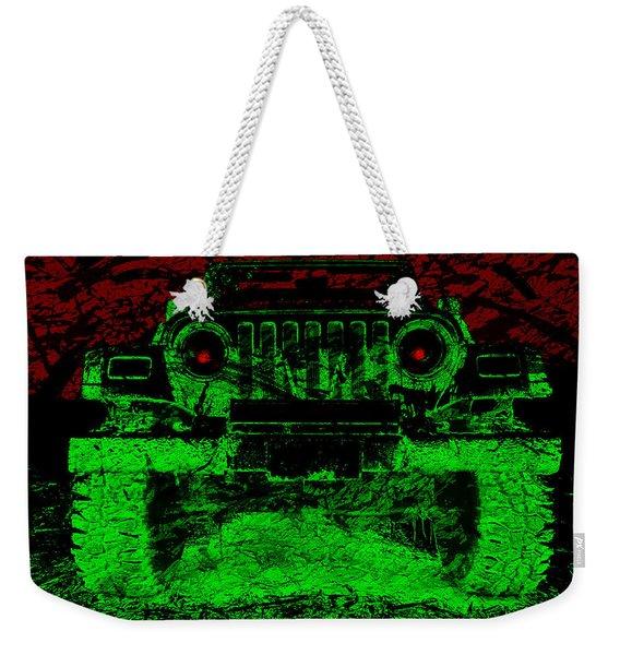 Mean Green Machine Weekender Tote Bag