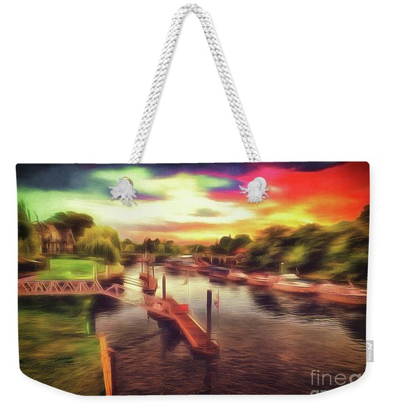 Meanwhile Back On The River Weekender Tote Bag