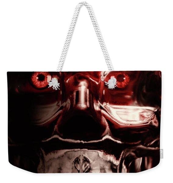Mech War Machine. Crystalised Robot Skull Weekender Tote Bag