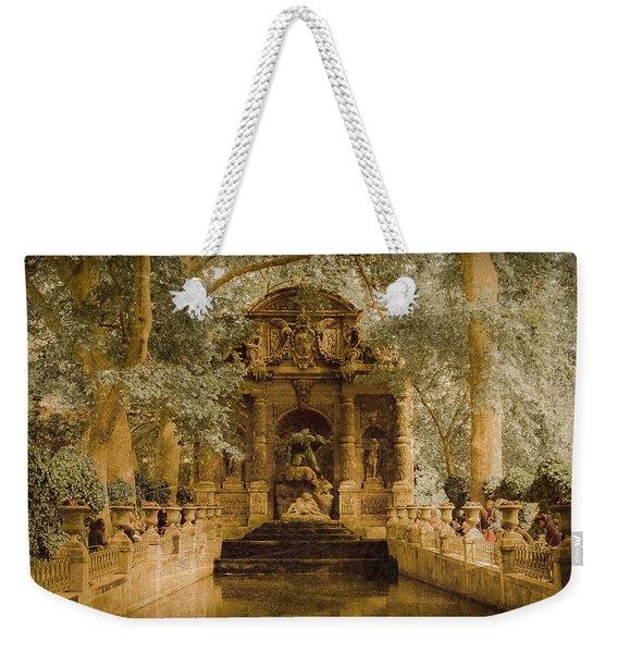 Paris, France - Medici Fountain Oldstyle Weekender Tote Bag