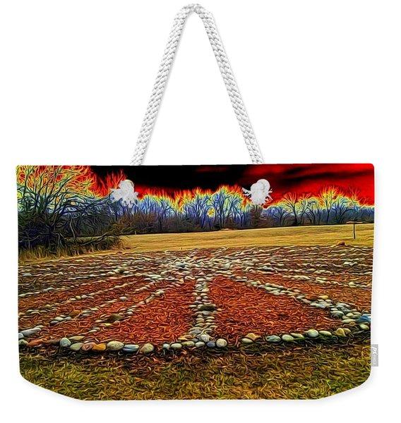 Medicine Wheel Weekender Tote Bag