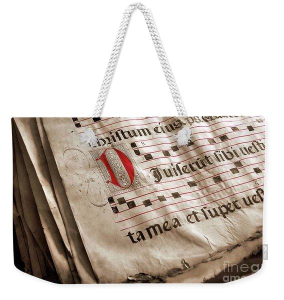 Medieval Choir Book Weekender Tote Bag