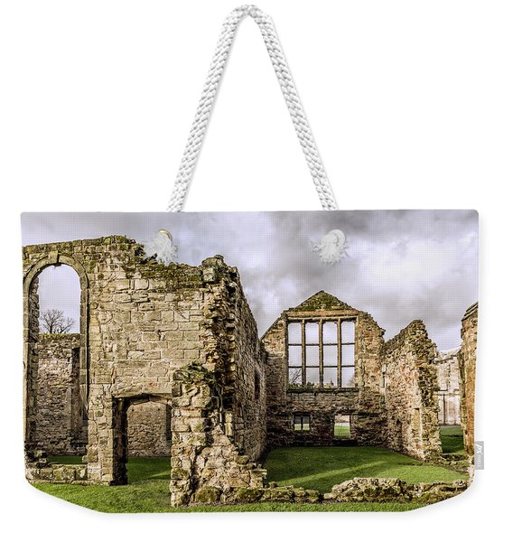 Weekender Tote Bag featuring the photograph Medieval Ruins by Nick Bywater