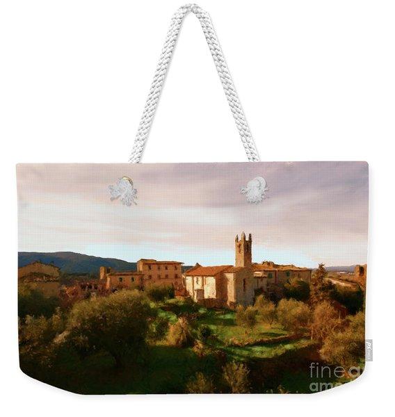 Medieval Tuscany Weekender Tote Bag