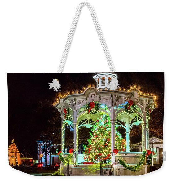Medina, Ohio Christmas On The Square. Weekender Tote Bag