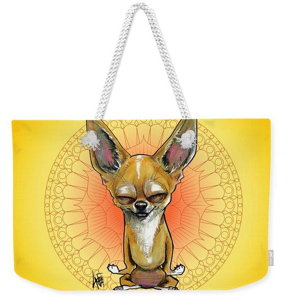 Meditating Chihuahua Weekender Tote Bag