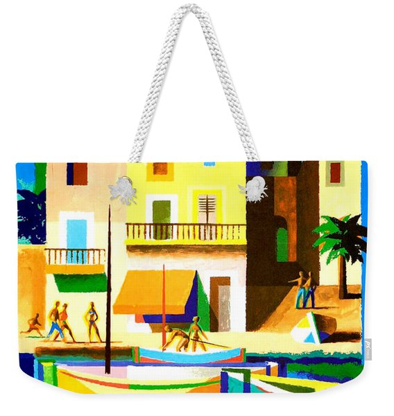 Mediterranean Coast, Fishing Boats Weekender Tote Bag