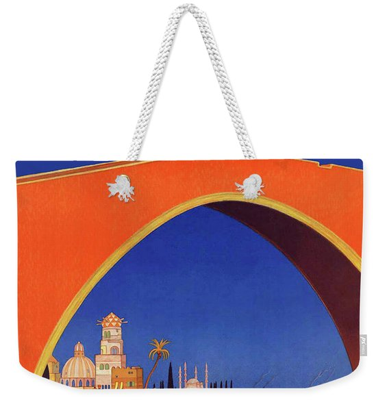 Mediterranean Cruises, Vintage Travel Poster Weekender Tote Bag