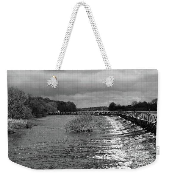 Meelick Weir Weekender Tote Bag