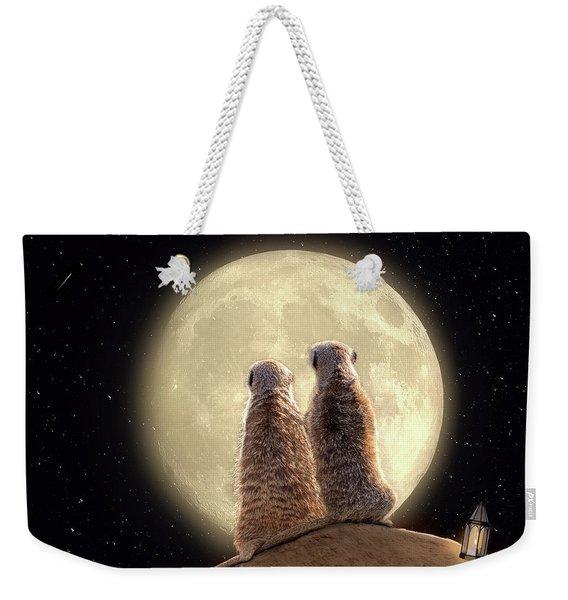 Meerkat Moon Weekender Tote Bag