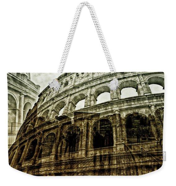 Meet Me At The Colosseum Weekender Tote Bag