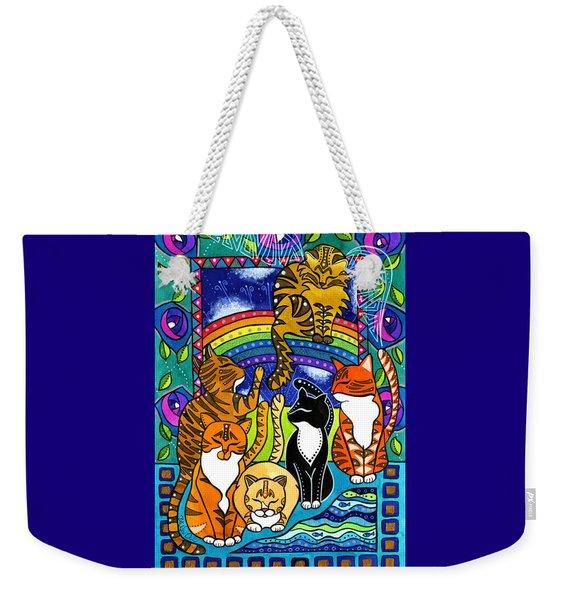 Meet Me At The Rainbow Bridge - Cat Painting Weekender Tote Bag