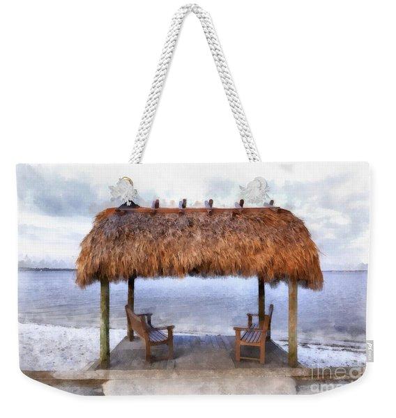 Meet Me Under The Chickee Hut Weekender Tote Bag