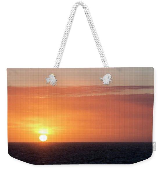 Meeting The Horizon Weekender Tote Bag