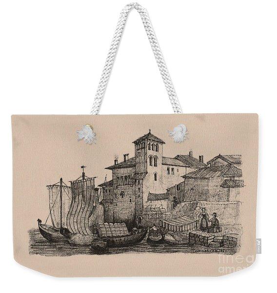 Meetings At The Dock Weekender Tote Bag
