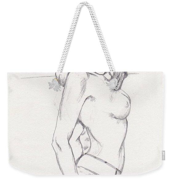Megan - Sketch Weekender Tote Bag