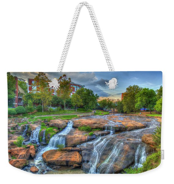 Mejastic Reedy River Falls Downtown Greenville South Carolina Art Weekender Tote Bag